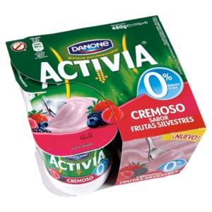 calorias yogur desnatado natural activia