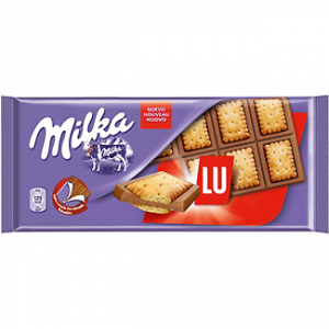 Chocolate con leche y galleta LU Milka