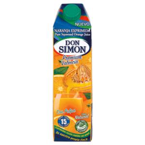 zumo naranja informacion nutricional
