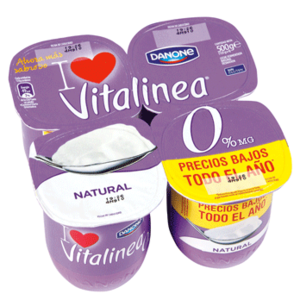 Yogur vitalinea natural desnatado danone cuanto azucar for Cuanto dinero tiene un cajero