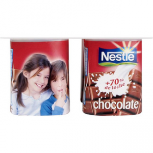 Yogur sabor chocolate Nestlé