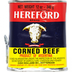 Corned beef argentino carne vacuna Hereford